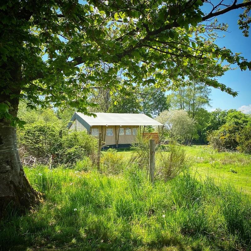 Photo Camping Le Ranch - tente safari- MADRANGES