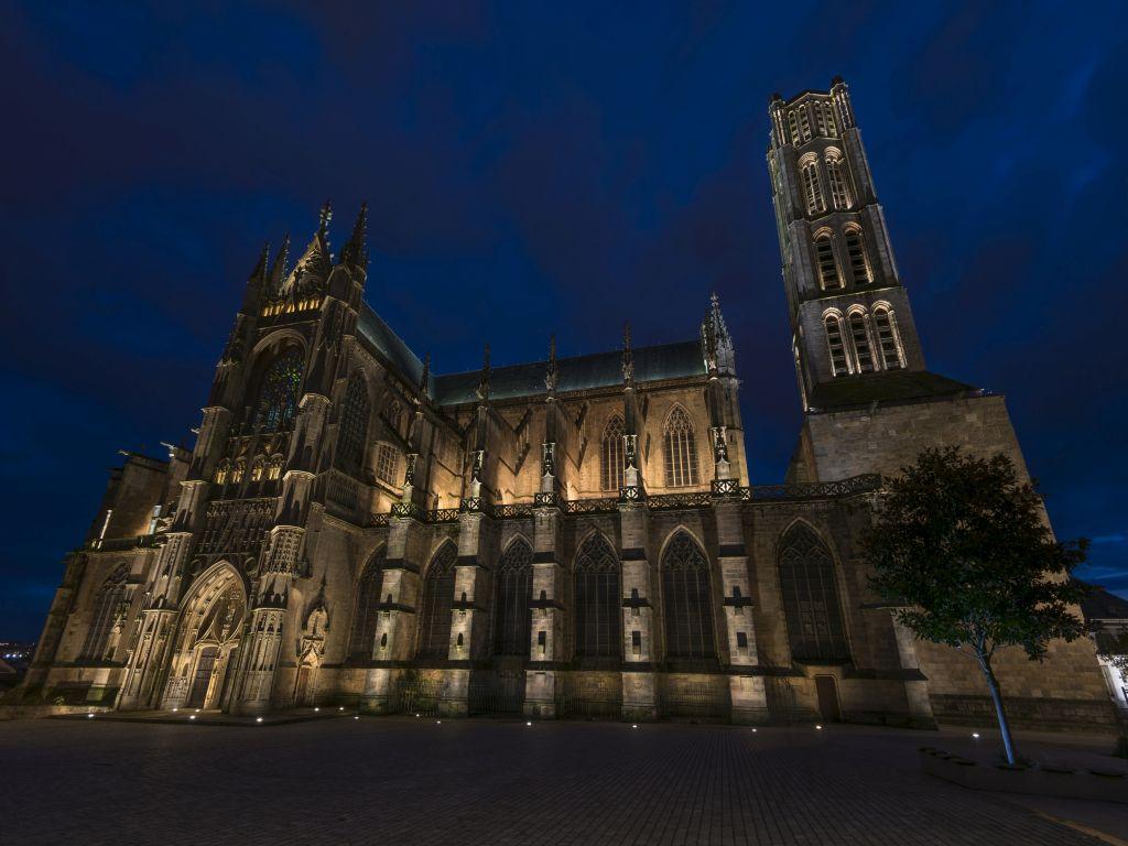 Limoges : Le quartier de la Cité en nocturne