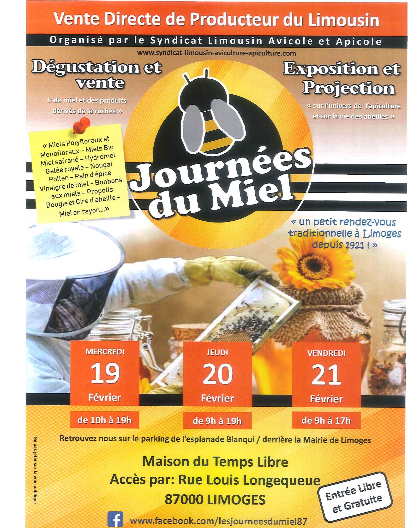Limoges : Journées du Miel
