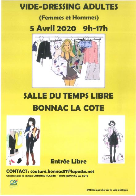 Limoges : annule / Vide dressing adultes