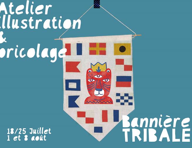 Limoges : Atelier Bricolage : Bannière tribale