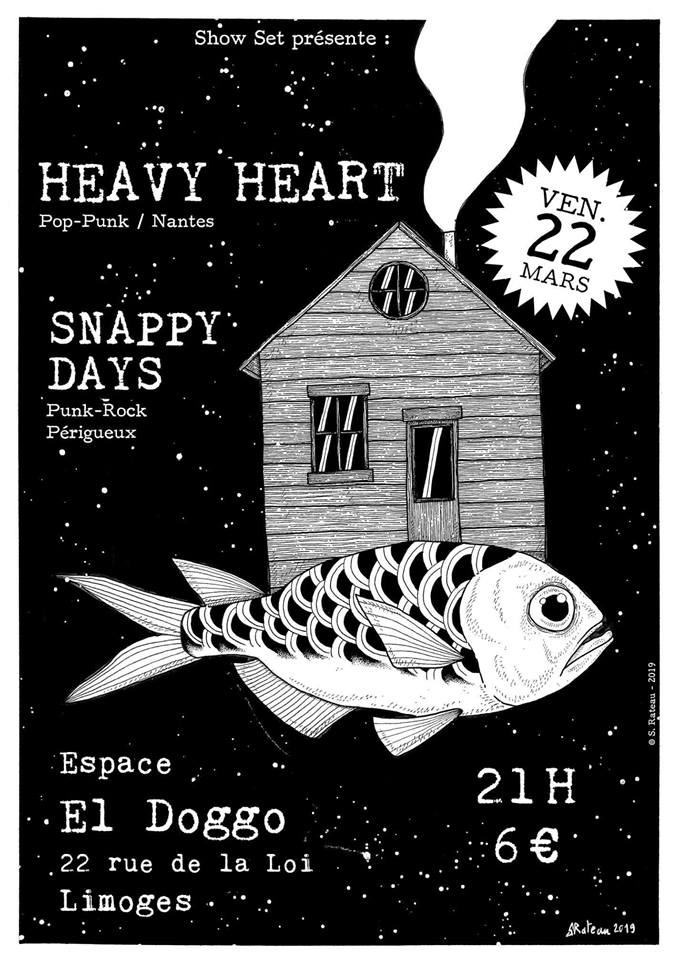 Limoges : Heavy Heart + Snappy Days Public