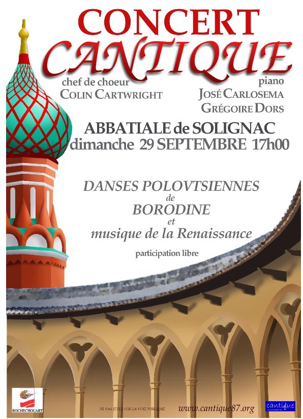 Limoges : Concert Cantique