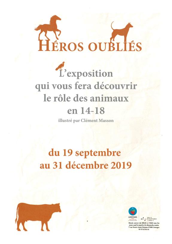 Limoges : Héros oubliés, les animaux dans la Grande Guerre