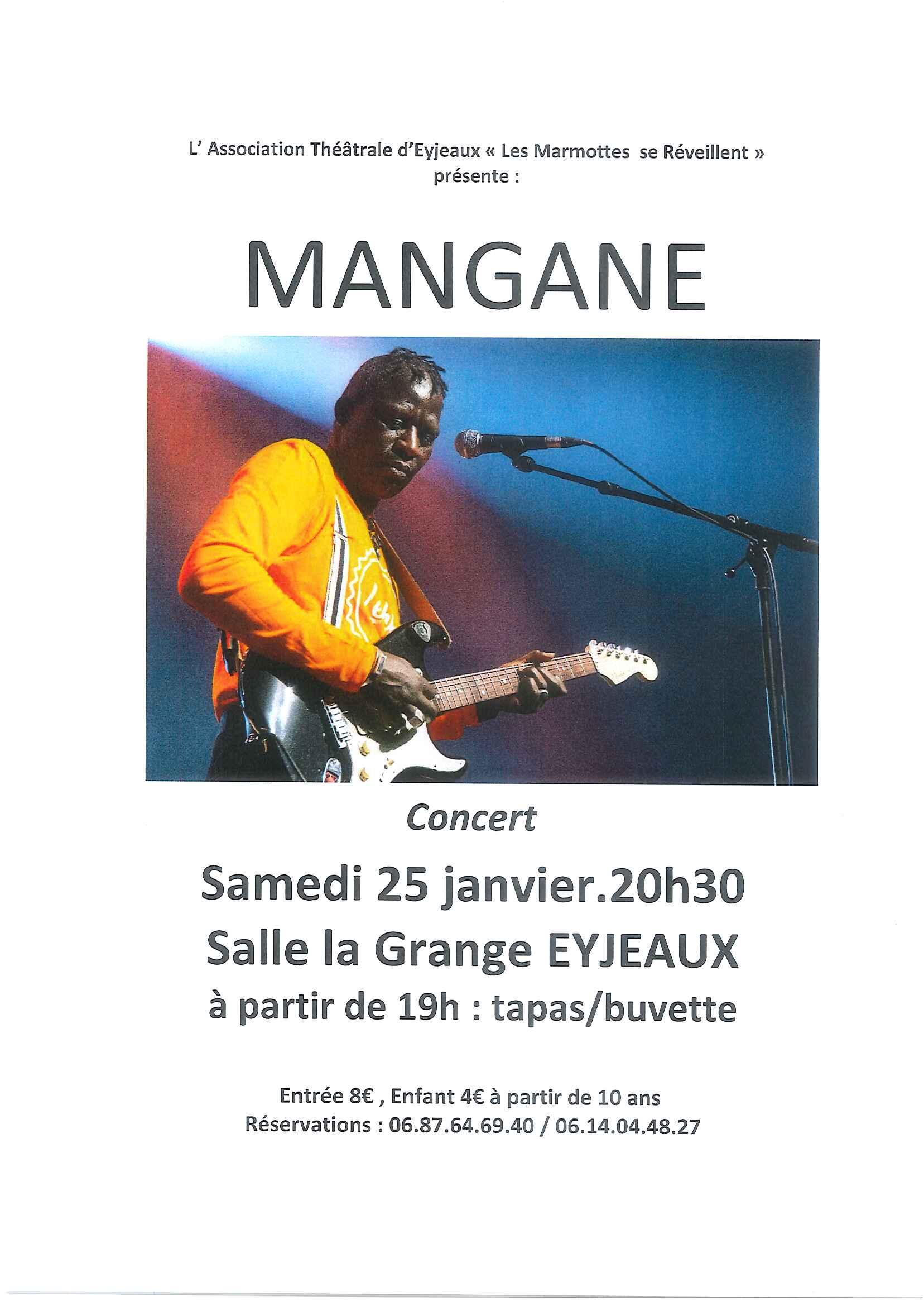 Limoges : Mangane en concert