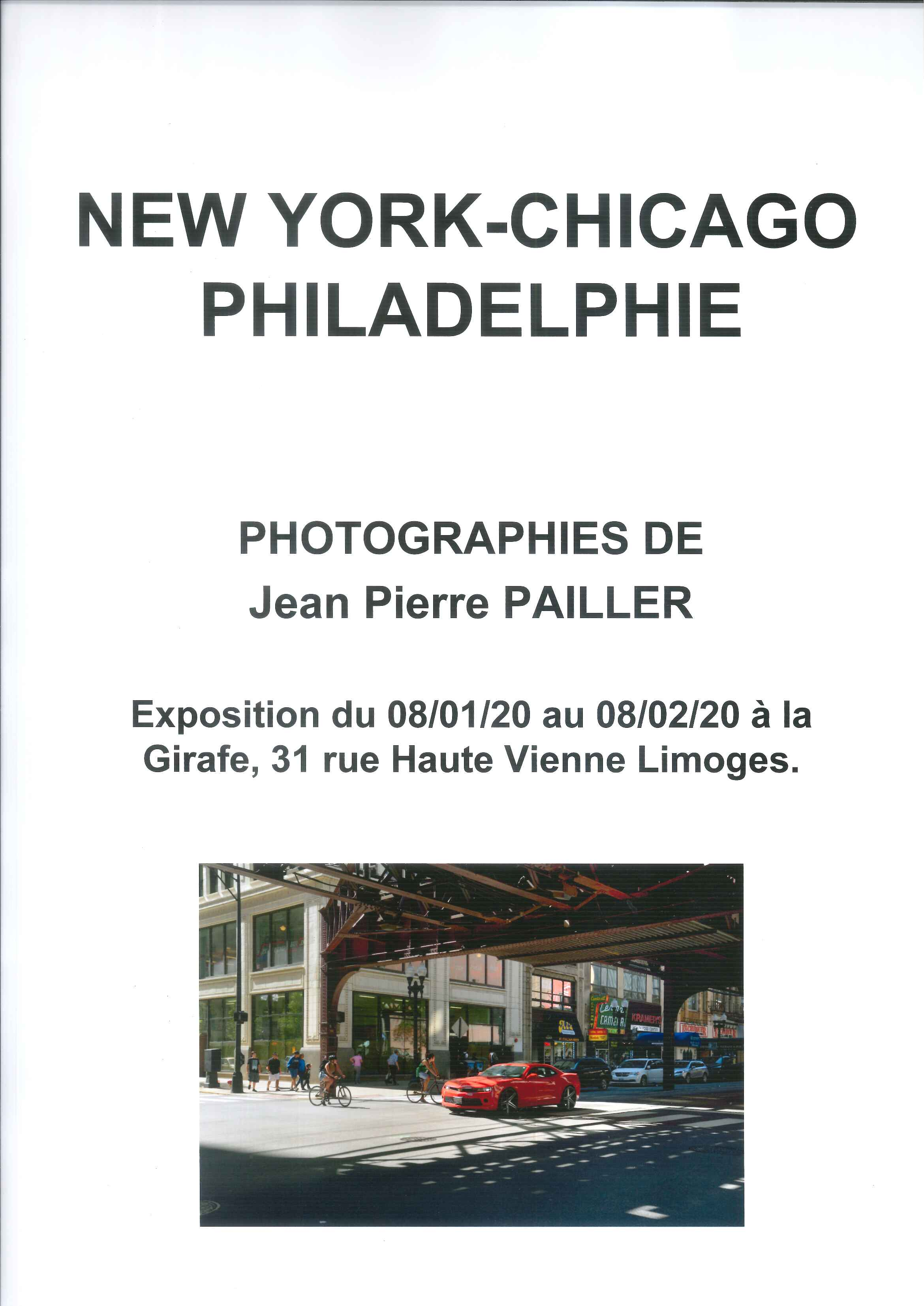 Limoges : New-York - Chicago - Philadelphie