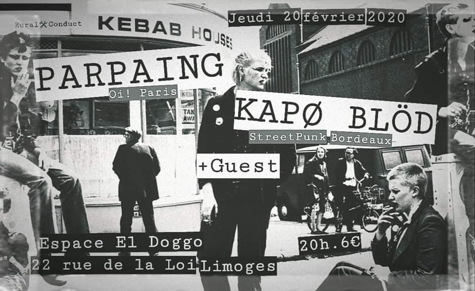 Limoges : Parpaing + Kapø Blöd + guest