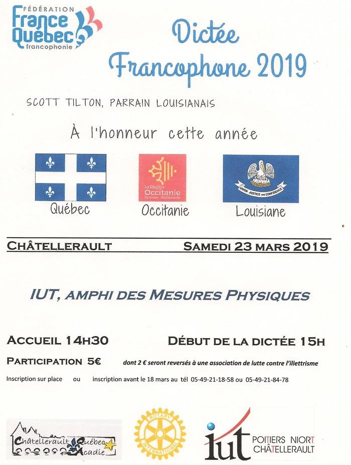Dictée Francophone 2019 - CHATELLERAULT