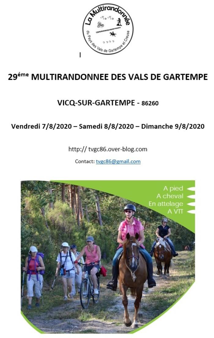 29ème Multirandonnée des Vals de Gartempe - VICQ-SUR-GARTEMPE
