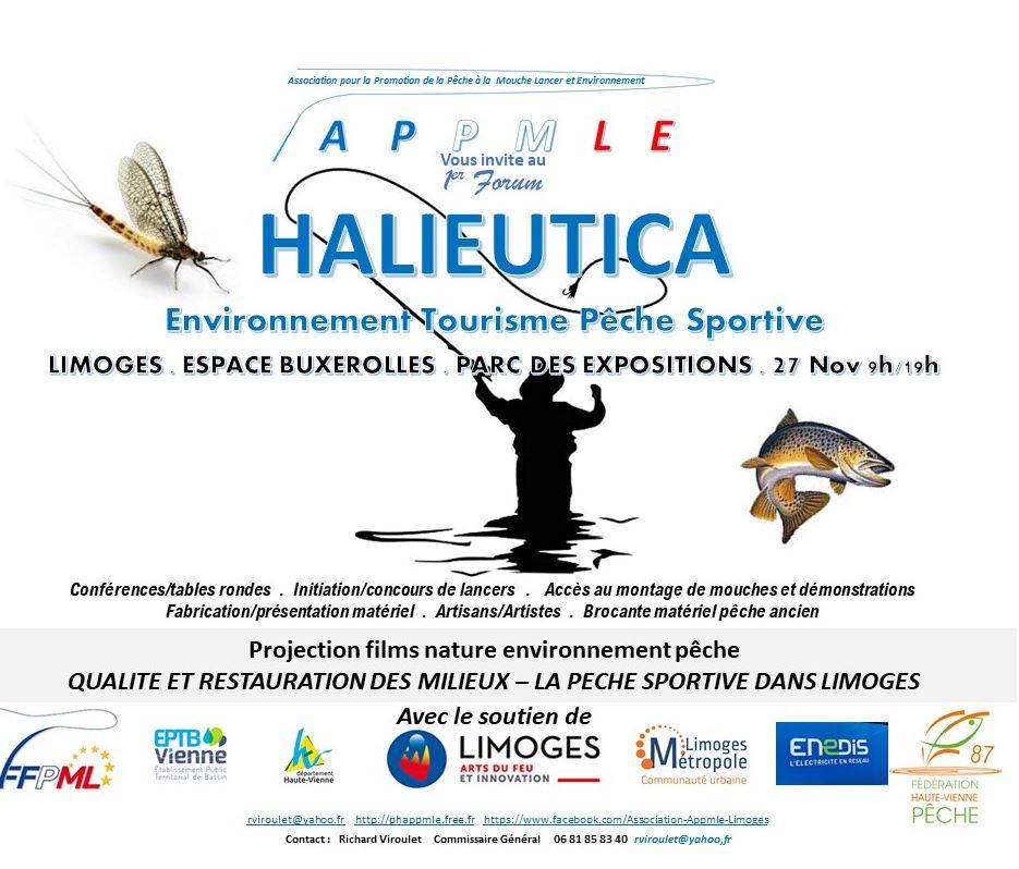 Limoges : Forum HALIEUTICA Environnement Tourisme Pêche Sportive