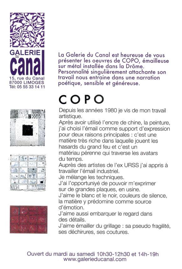 Limoges : COPO : émail sur métal