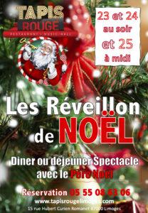 Limoges : Cabaret Tapis Rouge : le dîner spectacle du Père Noël